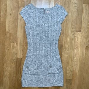 Gray short sleeve sweater dress